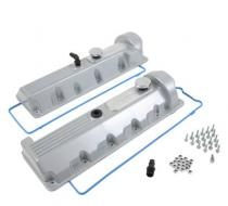Trick Flow® Cast Aluminum Valve Covers; Silver 4.6L Windsor
